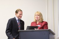 Sen. Richard Blumenthal and Deb Greenwood, CEO/President of The Center